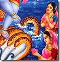 [Nagapatnis worshiping Krishna]
