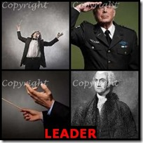 LEADER- 4 Pics 1 Word Answers 3 Letters