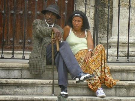 Personaje la pozat in Havana