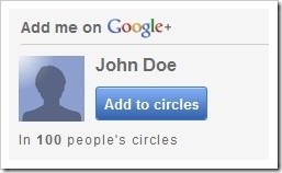 google   add me to your circle widget