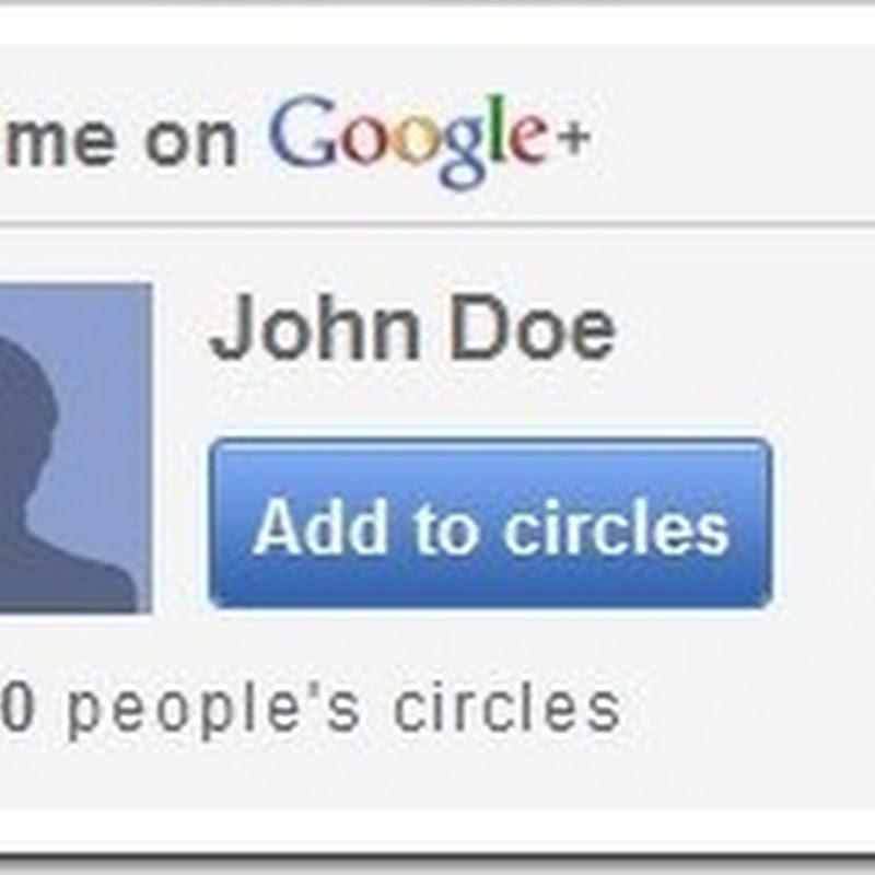 "Installing ""Add me on Google Plus"" widget"