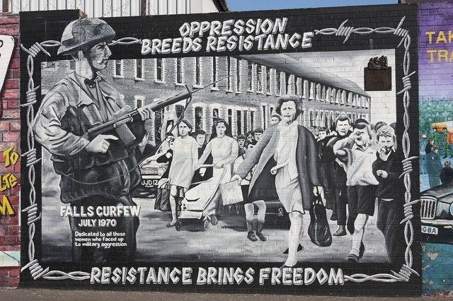 Divis Street Mural, Belfast - Oppression Breeds Resistence