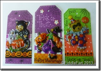 Halloween Trick or Treat Bags with tags. 2