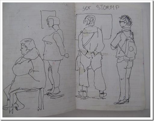 museumsgæster skitser