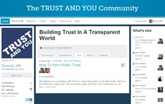 community for TRUST AND YOU
