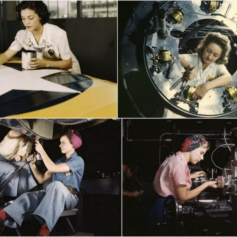 Propaganda Pictures Depicting Women's Role in World War II