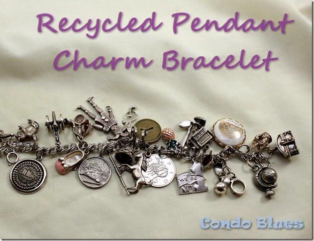 recycled charm bracelet