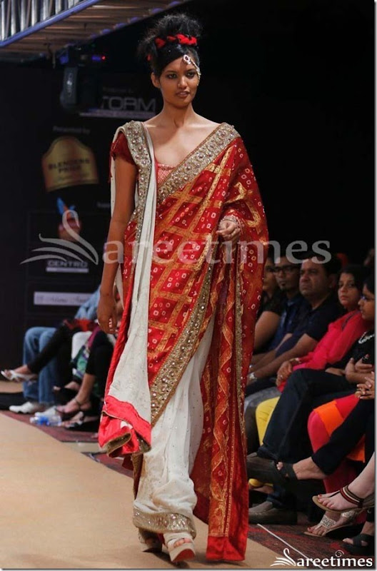 Red_White_Hlaf_and_Half_Saree