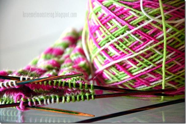 7 von 7 Sachen - Socken für Iris angeschlagen