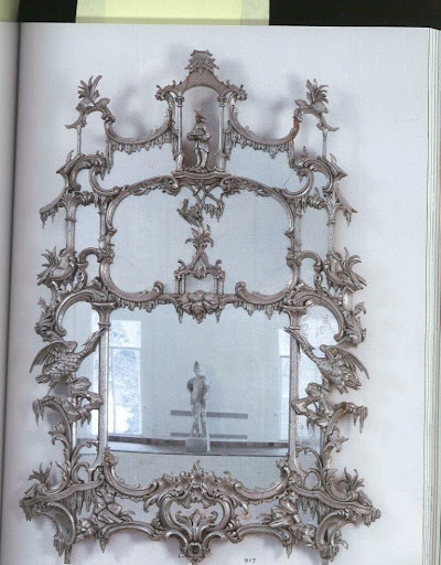 I lust after anything that involves Chinoiserie motifs and exotic birds - this 12-panel mirror has both. Love!