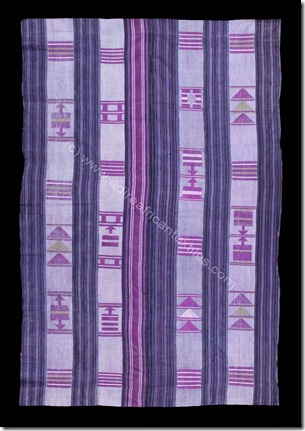 An exceptional C19th Yoruba aso oke cloth