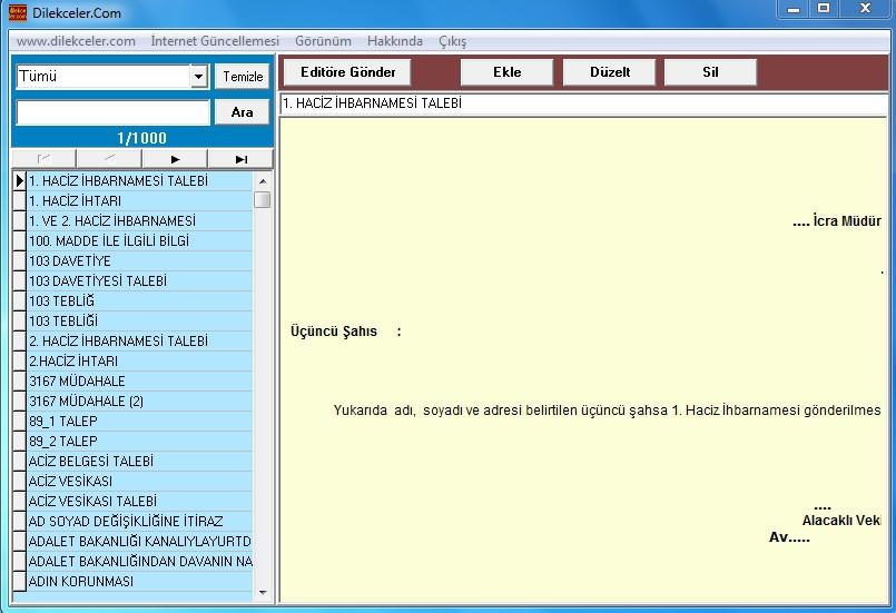 Dilekçe Yazma Programı Full