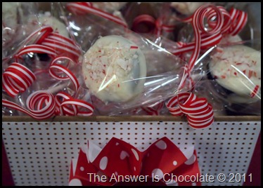 Candy Cane Cookie Pops
