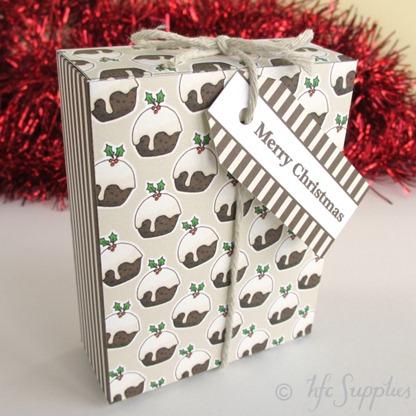 B2003 etsy 2 Merry Christmas printable gift box