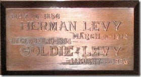 Grave Name Herman Goldie Levy