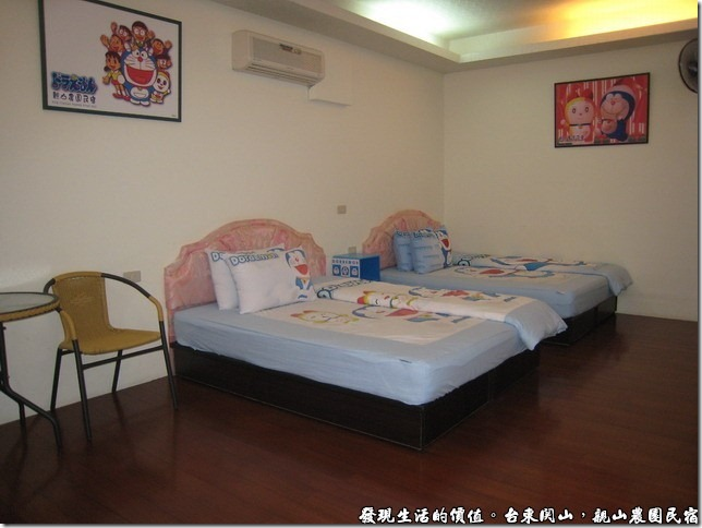 親山農園民宿,這是民宿另一個房間的佈置。