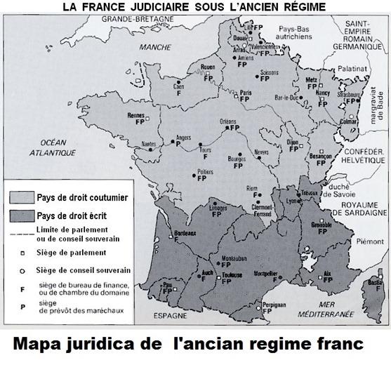 Mapa juridica de l'ancian regime franc