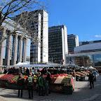 Marché aux légumes sur place stalinienne ....