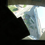glass floor at CN tower in toronto in Toronto, Ontario, Canada