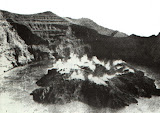 Gunung Awu - steam rises from a newly erupted lava dome. Photo courtesy of Volcanological Survey of Indonesia, 1931.