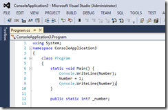 Blue Color in Visual Studio 2012