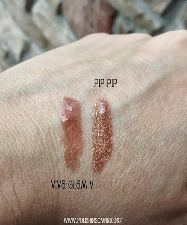 butter LONDON Pip Pip vs MAC VIVA GLAM V