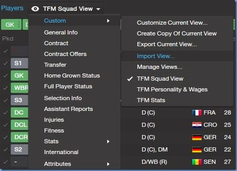 Importing views in FM 2014