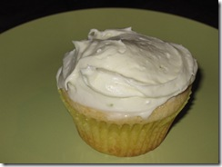 vanilla cupcakes frosted