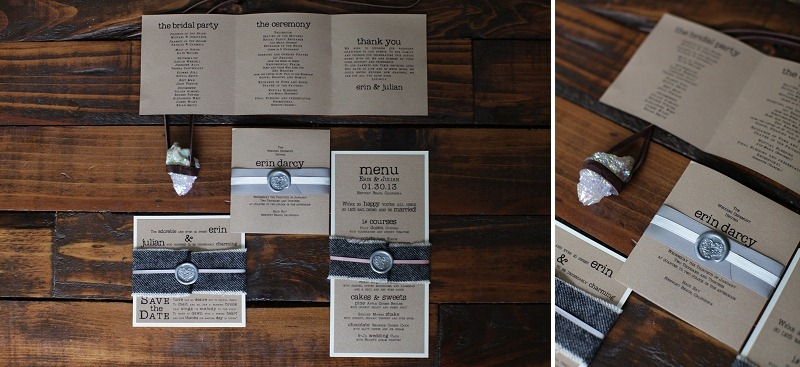 14 OakandtheOwl Leather Invites