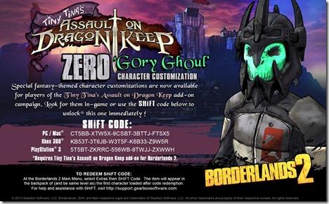 Borderlands 2 DLC Shift Code 3