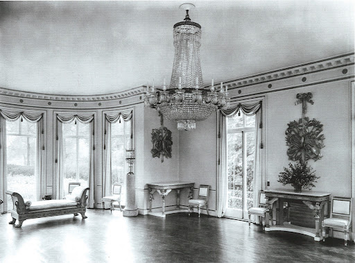 Audrey and Hon. Peter Pleydell-Bouverie's ballroom in their fabulous villa in Regent Park, better known as