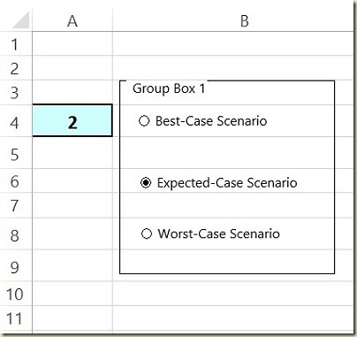 Form Controls in Excel - 1st Group