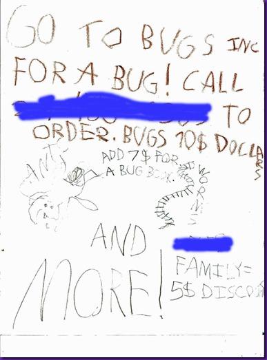 Bugs Inc flyer