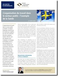 L'organisation du travail dans le secteur public  l'exemple de la Suède