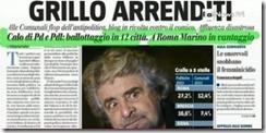 Beppe Grillo flop da anti-política. Mai.2013