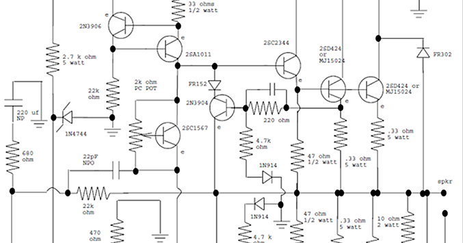electronics and projects  100w rms amplifier