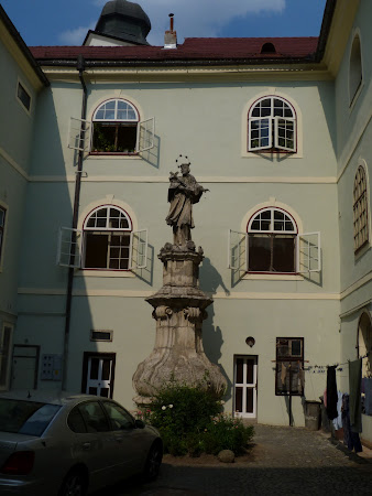 Historical city of Transylvania: The statue of Saint Jan Nepomuk