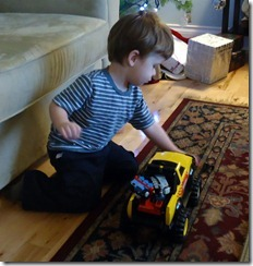 saylor with his tonka truck