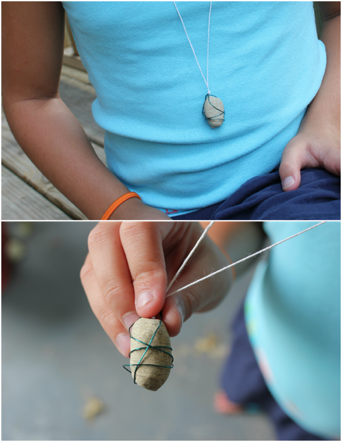 Rock Necklace Kids Craft