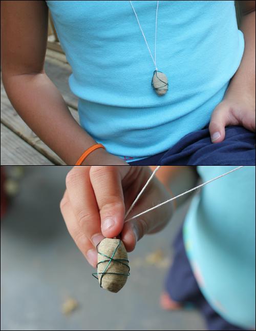 Rock Necklace Kids Craft