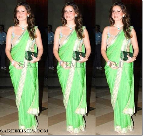 eelam_Kothari_Green_Designer_Saree