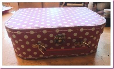 Spotty suitcase