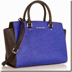 Michael Michael Kors Selma Bag in Black and Blue