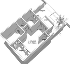 denah rumah minimalis 7x12