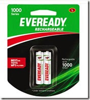 Buy Eveready 1000 Series AA NIMH Rechargable Batteries at Rs. 139 only (Pack of 2)