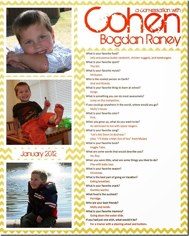 Interview with your kids - justanotherraneyday.blogspot.com
