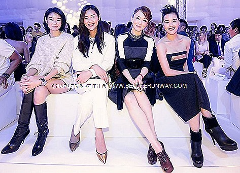 CHARLES & KEITH LIU WEN  SHEILA SIM ZOE TAY FANN WONG Fall Winter Shoes Bags Accessories 2013 2014 Fashion Show Front Row Collection SINGAPORE STORE OPENING DANIEL HENNEY Korean Actor Kpop celebrities SNSD GIRLS GENERATION K-POP