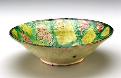 Bowl | Origin:  Nishapur,  Iran | Period: 10th century | Details:  Not Available | Type: Earthenware painted and incised under glaze | Size: H: 6.8  W: 22.6   D: 22.6  cm | Museum Code: S1997.127 | Photograph and description taken from Freer and the Sackler (Smithsonian) Museums.