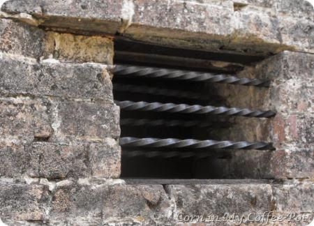 Calaboose window and bars