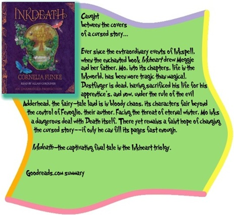Goodreads summary box for Inkdeath